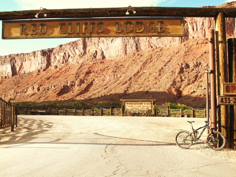 Gate to Red Cliffs Lodge