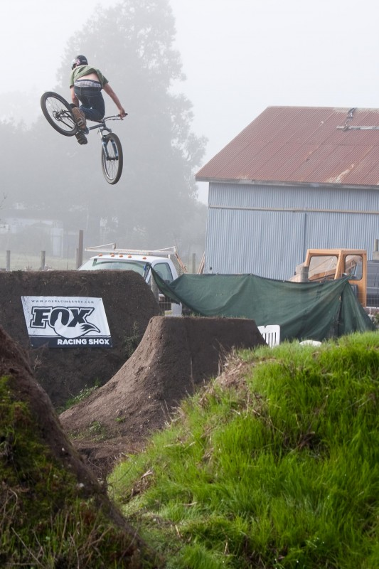 Fogged in, but still riding