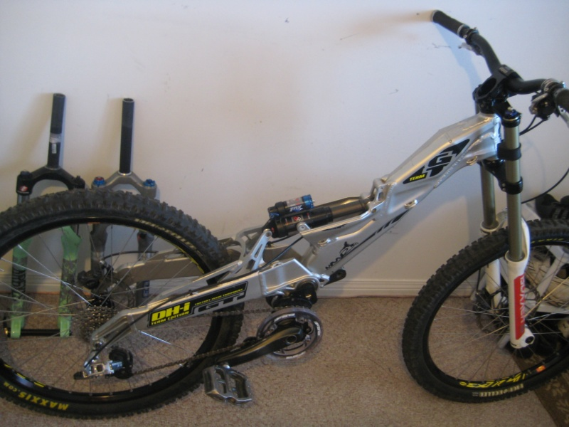 2008 GT DHI Team. I bet you can't make your bike look like this. Some like it, some don't. Who cares. No other bike will ride like this one.