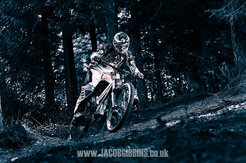 This is a shot of my mate James riding out at my local woods just 20 mins from my front door. He is a local pinner who is a dream to shoot with.  The shot is lit by 3 flashes and shot on a 50mm 1.8 lens. I love the focus in his eyes, the processing, the roost, lighting just one of my favs.