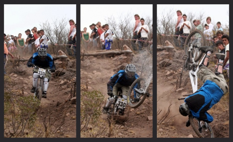 Huge downhill crash.