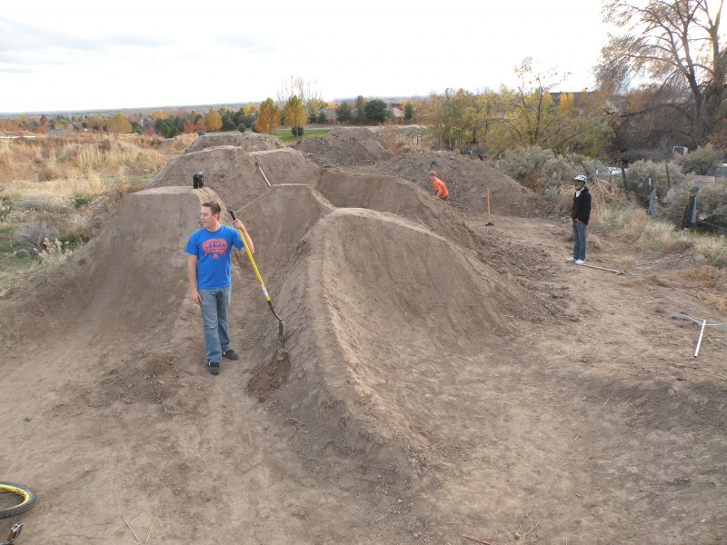 Working on the expert dirt jumps