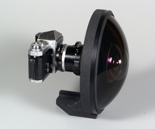 Focal length/Aperture: 6mm f/2.8    Lens construction: 12 elements in 9 groups    Picture angle: 220 degrees    Diaphram: Automatic    Aperature scale: f/2.8 - f/22 on both standard and direct- Matthew Gorveatte   readout scale