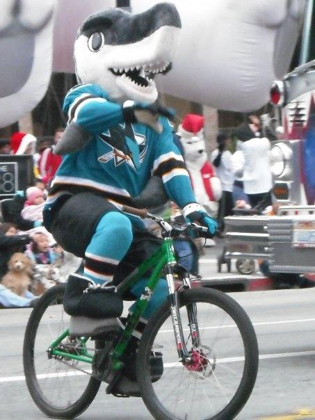 San Jose Sharks Mascot At Main Street In Santa Clara California