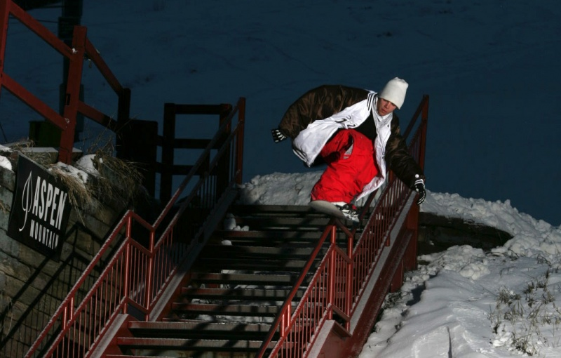 Snowboarding On The Rails