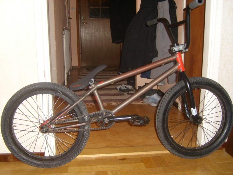 new forks, bars, stem, sprocket and pedals