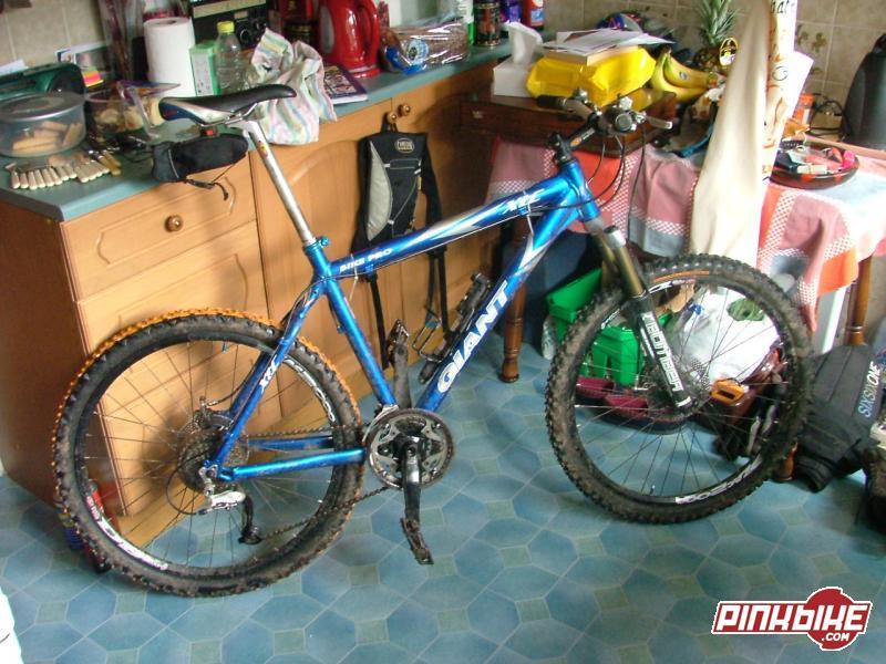 My bike in my nice warm workshop.