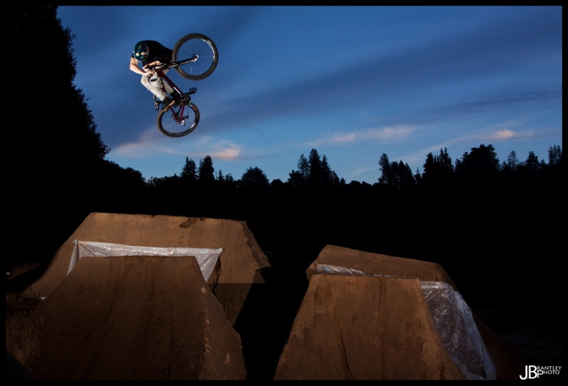 Fat 3 invert on a pretty small jump! Brian is the man!