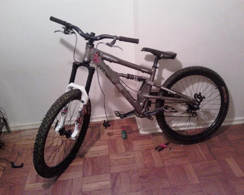 montando a bike