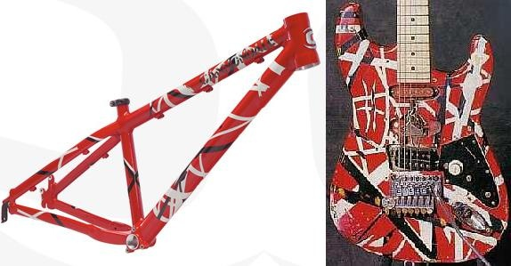 van halen and aaron chase at none in Avignon, France ...Eddie Van Halen Guitar Design