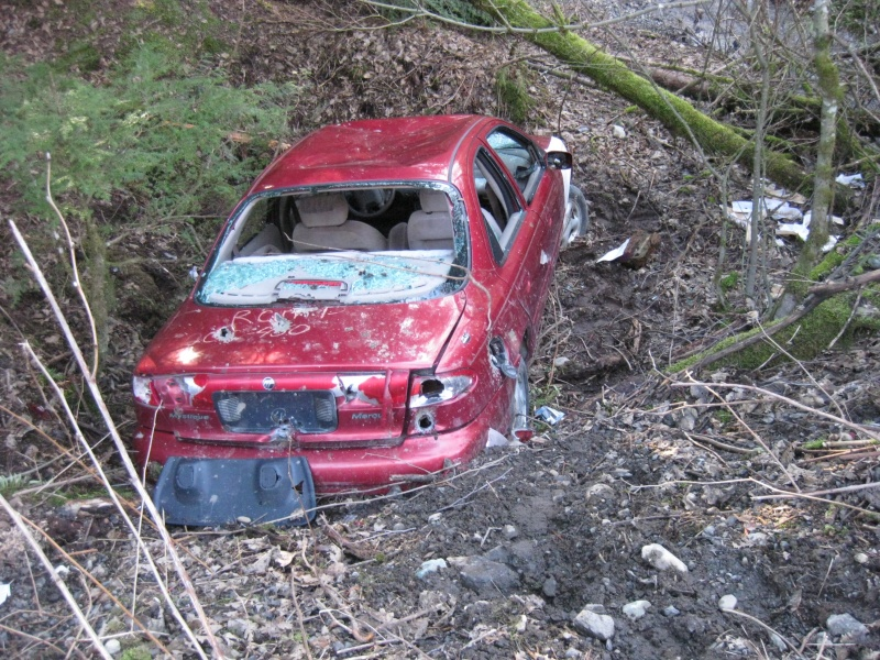 Stolen car that was ditched on the mountain