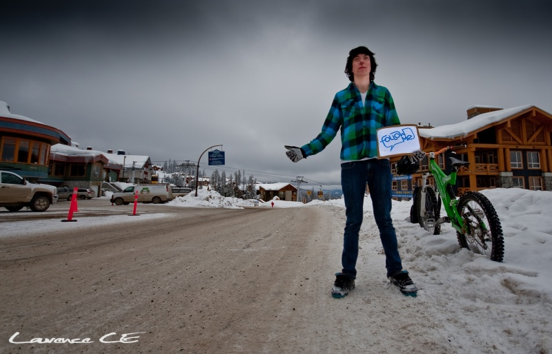 Dont Ski...Follow Me - Hitch hiking out of the snow to ride bikes - Laurence CE - www.laurence-ce.com