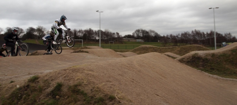 Martin leading the way at Bradford Bandits BMX gate practice session