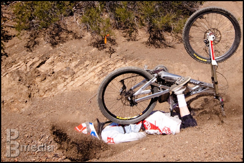Mike decided to burrow through the dirt during a photoshoot in SB for Golden State.