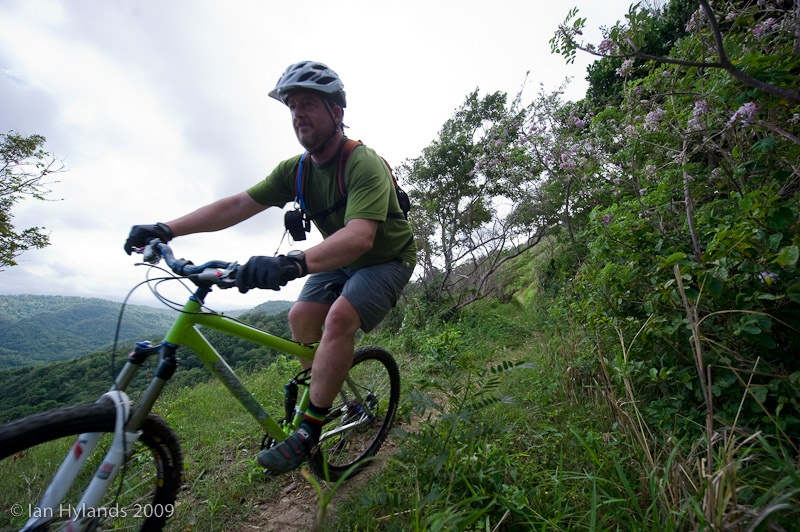 Mike riding the pressure drop trail.