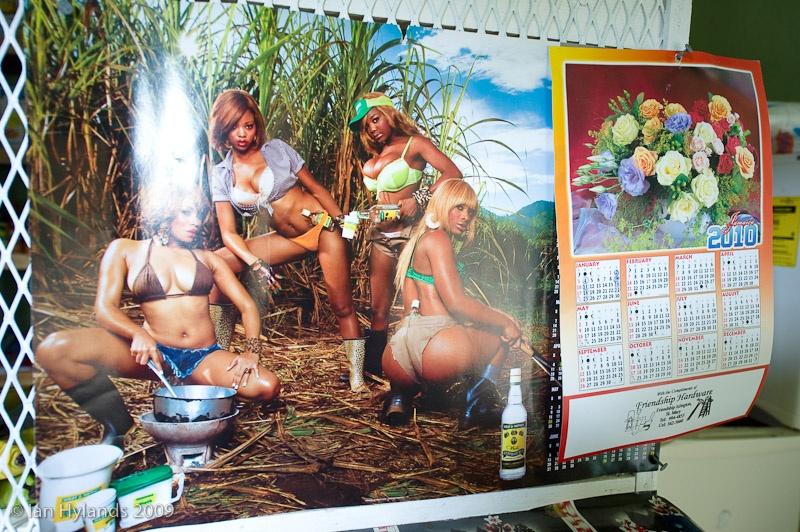 Rum Poster in Latoya's store
