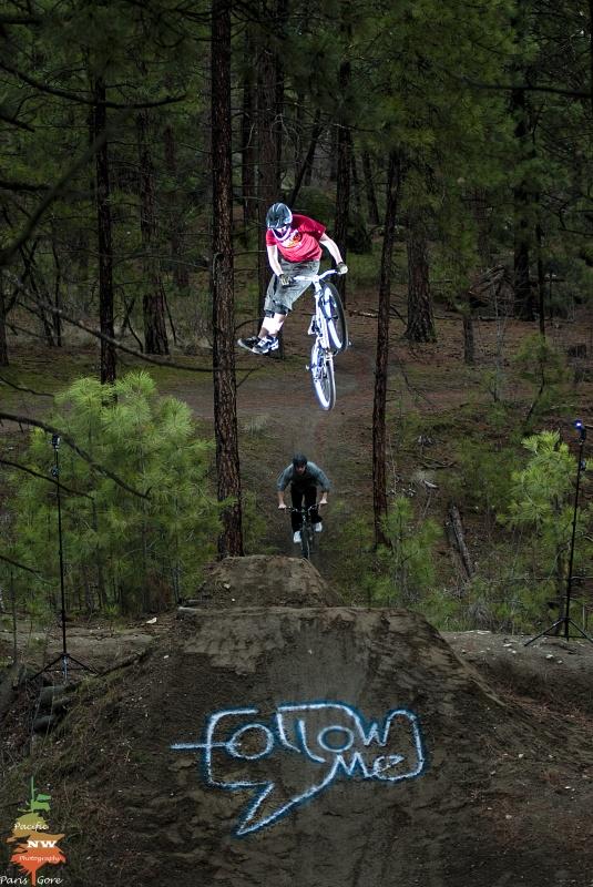 Follow Me shoot. Spray painted landing. VOTE! photo credit: Paris Gore