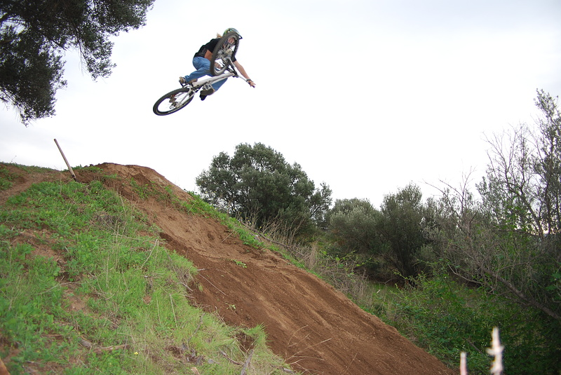 Riding my purpose built training drop