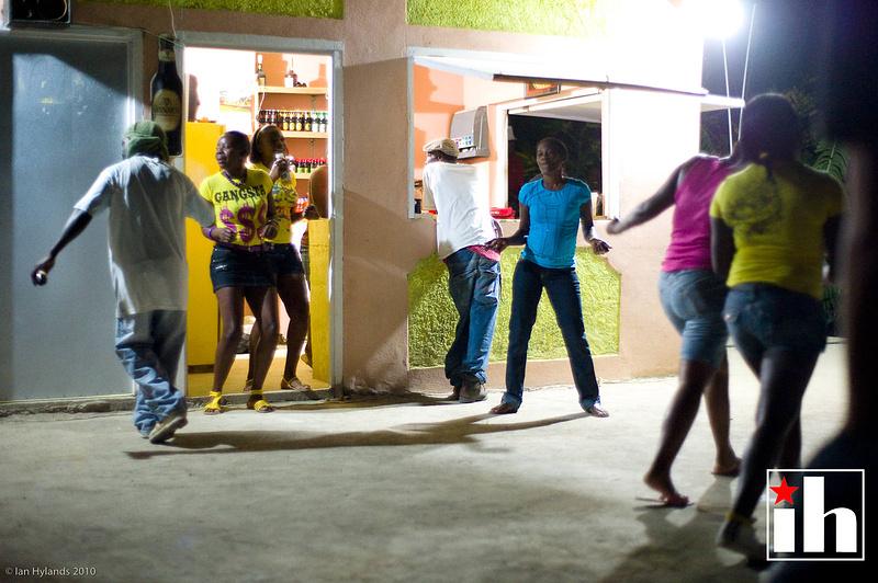 partying in Mavis Bank
