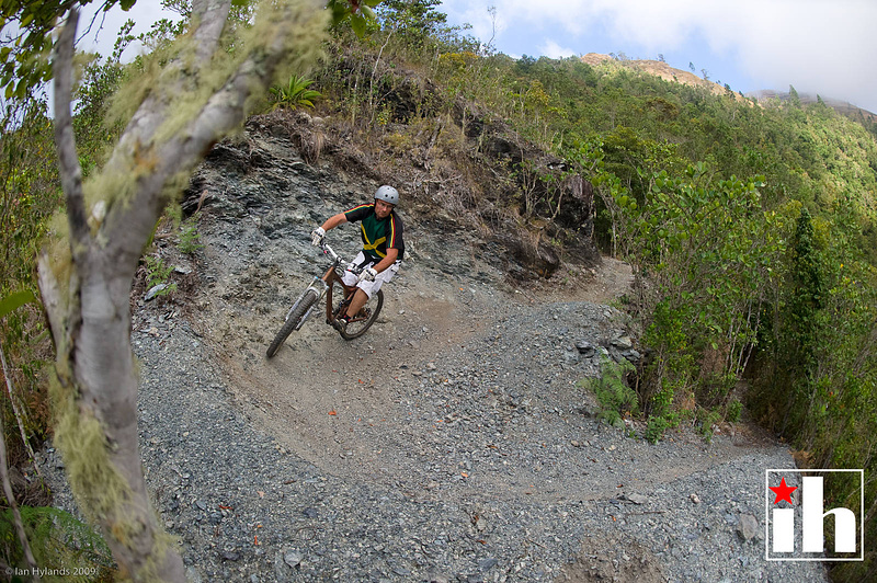Loose berm on the way down