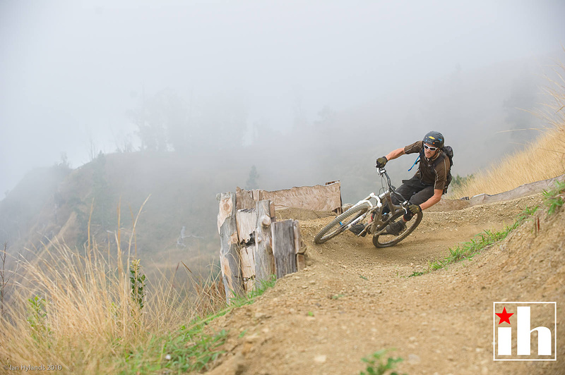 Sweet little berm in the fog