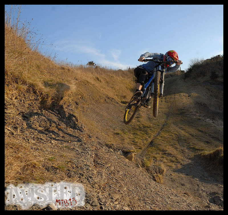 Ant hitting the quarry side jump.