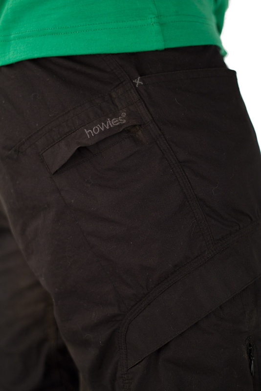 The rear pocket is small enough to make putting a wallet in it quite  difficult 463c89094
