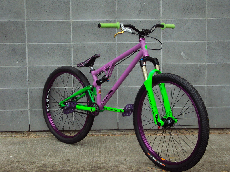 Awesome Bmx Bikes Green And Purple