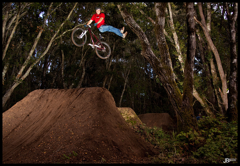 Greg riding the new Haro hardtail!