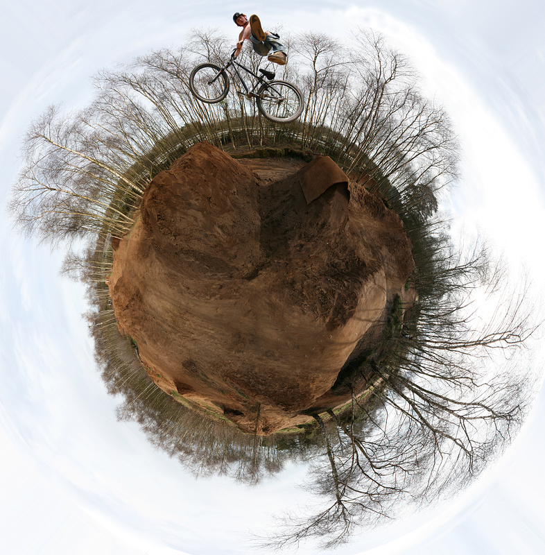 360 degree polar panorama of Milford Trails