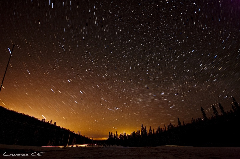 Shot of the stars and the light pollution from Kelowna - Shot as taken - Laurence CE - www.laurence-ce.com
