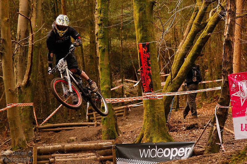 Will Soffe racing at the Rheola BDS