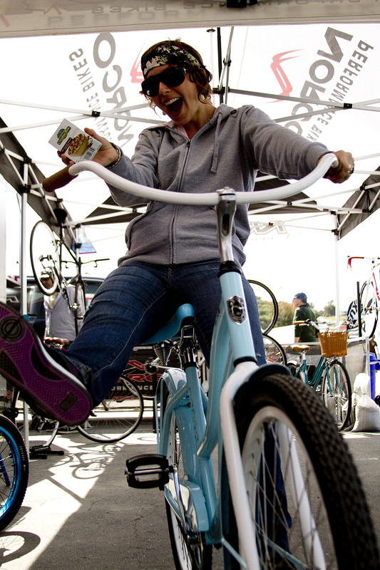 Rocking out with her Cruiser and Oatmeal.