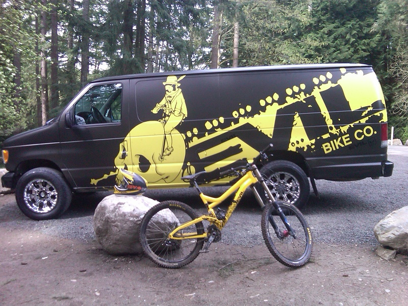 My bike posing with my van.