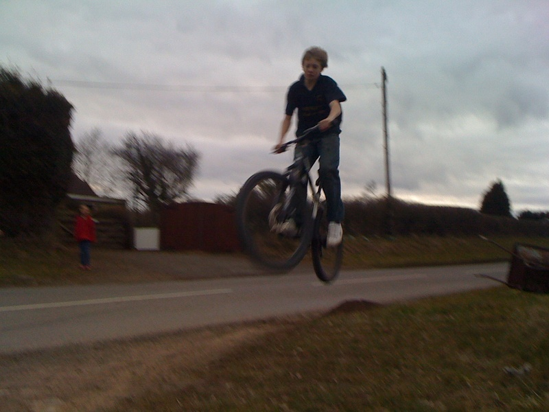 small jump i built and the end of my road