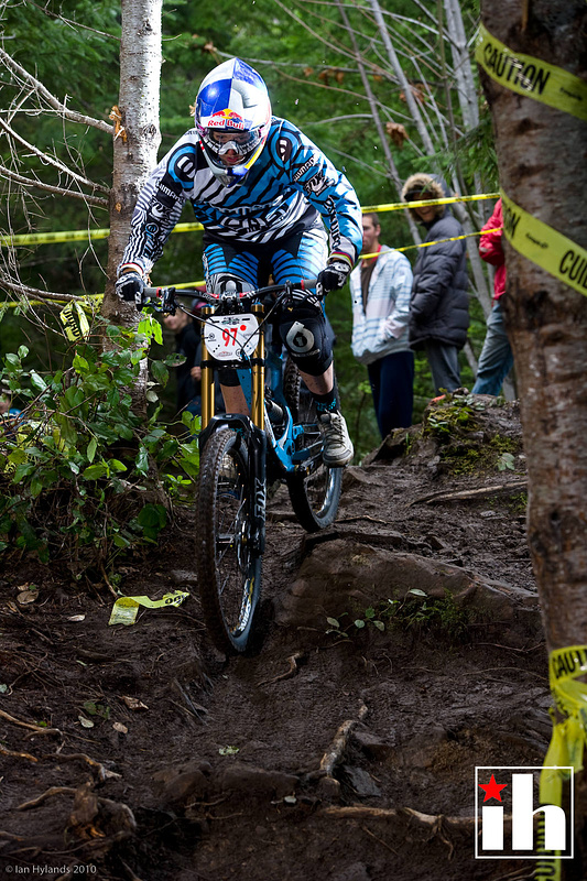 Rachel Atherton qualified second in the womens