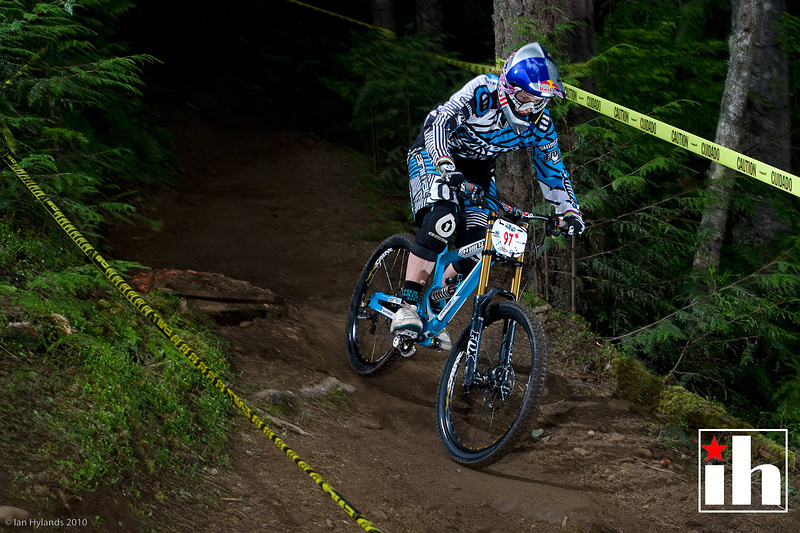 Rachel Atherton on her way to 2nd place in Port Angeles