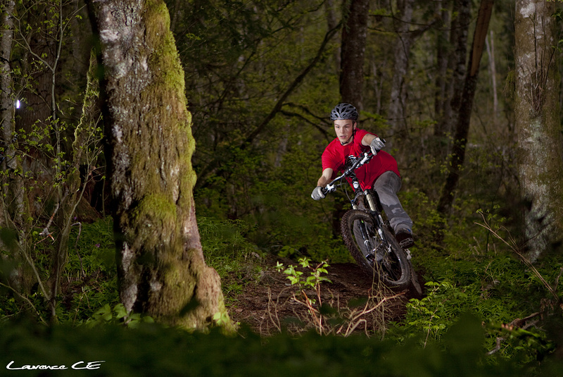 Pinkbike's very own Jordan getting some berm action - Laurence CE - www.laurence-ce.com