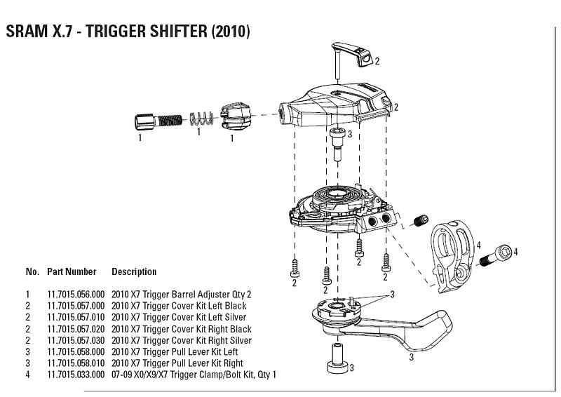 sram x7 shifter schematic all kind of wiring diagrams u2022 rh happyholiimagess com sram x7 trigger shifter assembly sram x7 trigger shifter manual