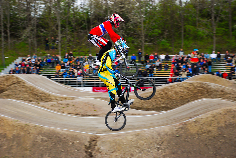 At the UCI BMX Supercross WC