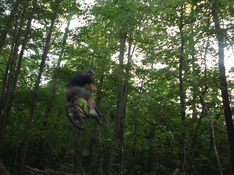 hucking the dirt jumps