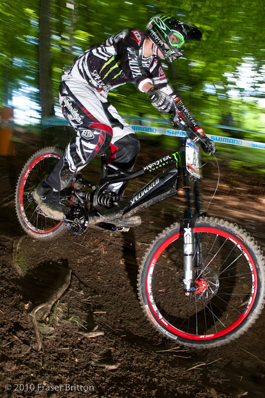 Practice at the 2010 Maribor, Slovenia World Cup.