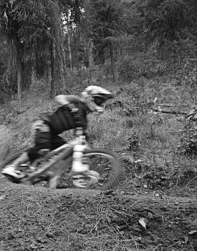 Ashland Spring Thaw DH 2010. Big left-hand berm. Photo by Zak Owens (PB user: djzmowens) on a Nikon D40x
