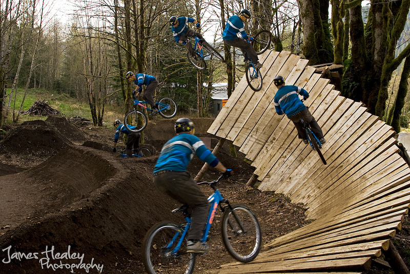 Ben Boyko sequence, 360'ing out of the wallride with his new Cove Hooker. James Healey Photography