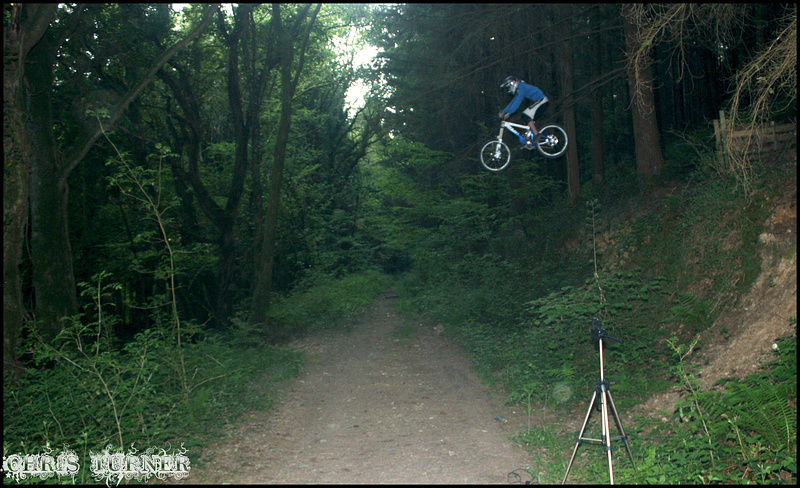 Mark hitting the massive road gap for the first time!