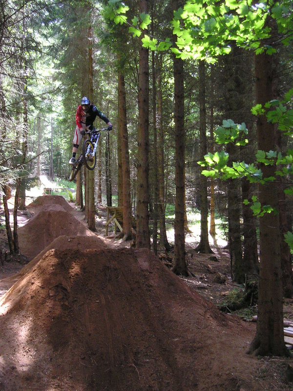 Last in the new falkland DH bike DJ's. the dirt quarter after them is massive...