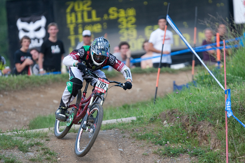 Racing action from the Us Open of MTB GS Finals.