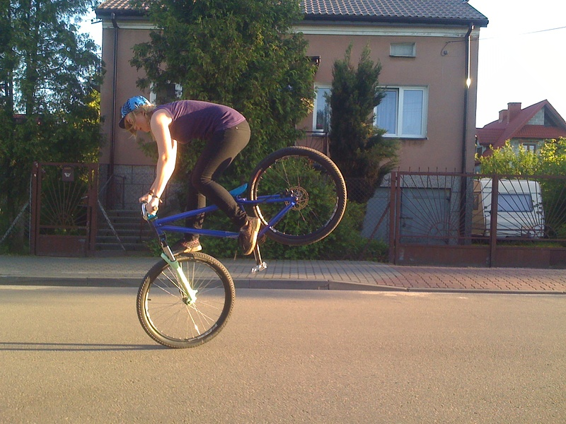 foot jam without leg :D but i landed it ;)