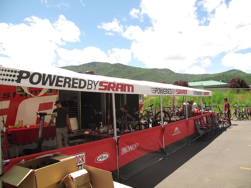 The SRAM factory trailer parked outside the United Bicycle Institute
