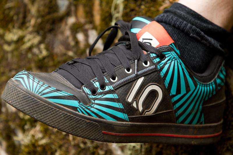 Five Ten Freerider shoe in blue zebra